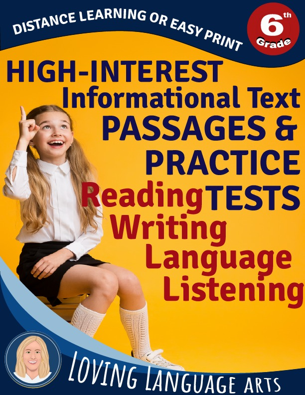 cover 6th grade informational texts and practice tests