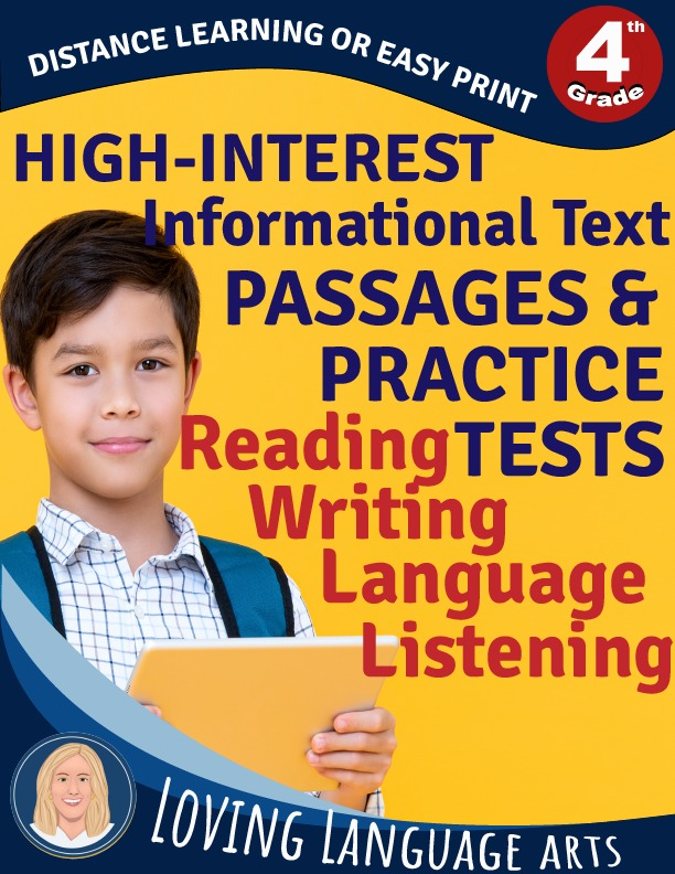 4th grade workbook informational text passages and practice tests