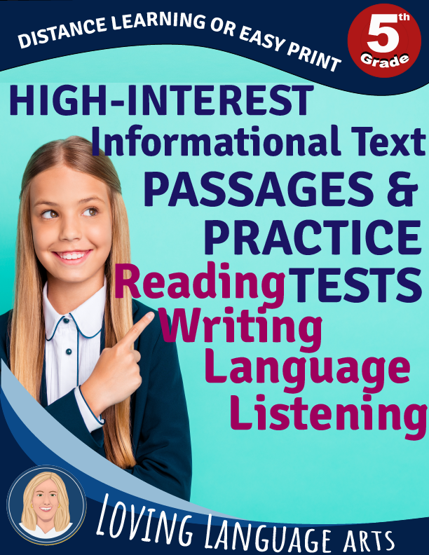 5th grade workbook informational texts and practice tests